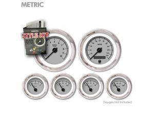 Aurora Instruments GARA39ZMXPABCC Style Kit - Metric Omega Gray , Black Modern Needles, Chrome Trim Rings