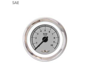 Aurora Instruments GAR239ZEAIABCC Tachometer Gauge with emblem - Omega Gray , Black Modern Needles, Chrome Trim
