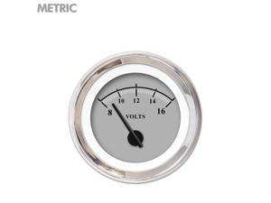 Aurora Instruments GAR239ZMXNABCC Volt Gauge - Metric Omega Gray , Black Modern Needles, Chrome Trim Rings