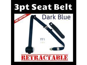 Super Seat Belts 1979 Chevrolet C10 3pt Retractable Dark Blue Seat Belt new lap in box adjustable 3-point extender safety point retract harness modern car shoulder auto buckle adjustable stopper