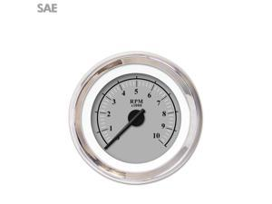 Aurora Instruments GAR239ZEXIABCC Tachometer Gauge - Omega Gray , Black Modern Needles, Chrome Trim Rings