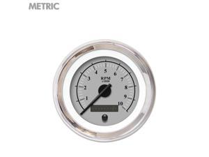 Aurora Instruments GAR239ZMXHABCC Speedometer Gauge - Metric Omega Gray , Black Modern Needles, Chrome Trim