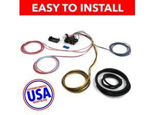 USA Wire Harness SAQ232146 18 CIRCUIT UNIVERSAL WIRE HARNESS xy dune buggy chevy street rod rat rod mga 32