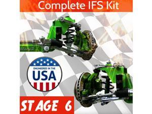 Stage 6 * All Universal 56.5 Front Steer Track Mustang II IFS Kit ProTouring Sup certified suspension weld in pinion complete hot dmv rack truck disc dot new car power steering diy brake in box