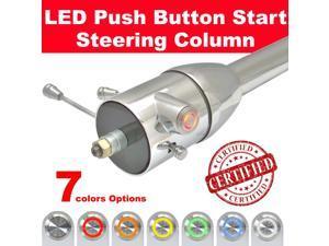 StreetRod Steering Supply Company 1536330051 45F8E Push Button Start Chrome Tilt Steering Column z28 350 Ratfink chevy truck 409 GM