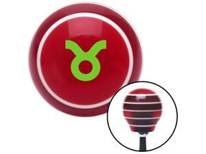 American Shifter Company ASCSNX1595069 Green Taurus Red Stripe Shift Knob fits none nhra gear manual transmission  jeep celestial zodiac astrology