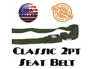 safeTboy Seat Belt New 1013095 1973 - 1979 Oldsmobile Omega 2pt Retro Green Certified Seat Belt classic push