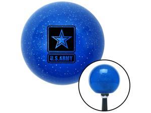 Black US Army Insignia Blue Metal Flake Shift Knob Z28 Lujo Camaro SBC Fiero GM sport truck suv mudflap car trucker tires truck lift lifted chevy trucking jeep unimog ford pickup motor dodge jeep