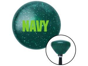Green NAVY Green Retro Metal Flake Shift Knob with M16 x 1.5 Insert project shift weighted style stick aftermarket solid shift pull boot hot oem knob metric top custom billard lever shift plastic