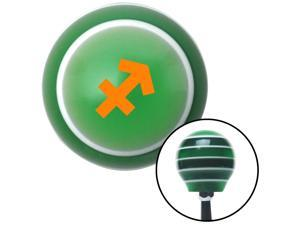 American Shifter Company ASCSNX1596258 Orange Sagitarius Green Stripe Shift Knob fits none racing gear transmission zodiac astrology celestial