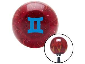 American Shifter Company ASCSNX1617882 Blue Gemini Red Flame Metal Flake Shift Knob fits astrology zodiac celestial aut celestial astrology zodiac
