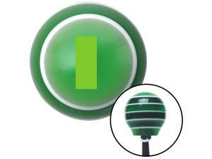 Green Officer 01 and 02 Green Stripe Shift Knob with M16 x 1.5 Insert project black automatic lever plastic shift oe custom stick solid lever grip standard resin rack knob oem pool top hot pull