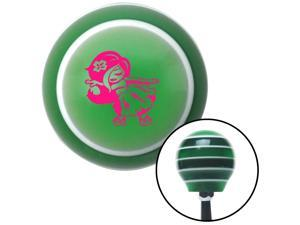 Pink Anime Hula Girl Green Stripe Shift Knob with M16 x 1.5 Insert bbc big dog oe knob knob rack handle grip plastic leather shift rod resin lever aftermarket stick solid custom oem manual pull shift