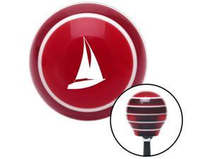 White Sailboat Red Stripe Shift Knob with M16 x 1.5 Insert camper model a socal leather knob rack lever black automatic rod hot billard plastic shift lever manual stick pull oem resin strip lever