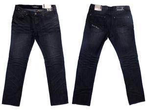 New Mens Dark Blue Slim Fit Denim Jeans Size Waist 31 32 33 34 36 38 Reg Long