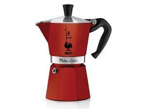 Bialetti 6-Cup Espresso Coffee Maker, Red