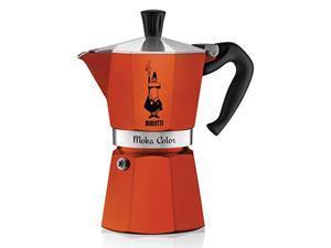 Bialetti 6-Cup Espresso Coffee Maker, Orange
