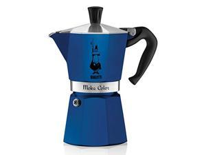 Bialetti 6-Cup Espresso Coffee Maker, Blue