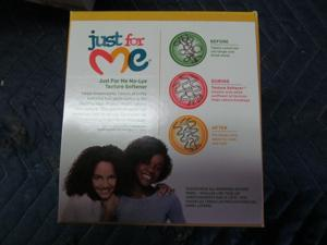 JUST FOR ME  NO -LYE TEXTURE SOFTENER SYSTEM(SOLD AS A CASE OF 6 UNITS)