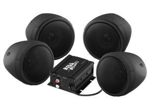 BOSS Audio MCBK450 Black 1000 watt Motorcycle/ATV Sound System