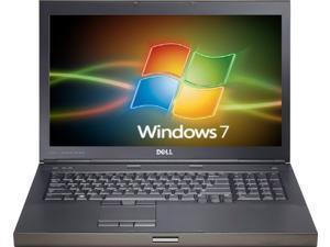 Dell m6500 precision work station laptop- core-i7 q740 1.73ghz-8gb ram-320gb hard drive-windows 7 pro 64bit-display 1920x1200-nvidia quadro fx 2800m graphics-dvdrw-good battery