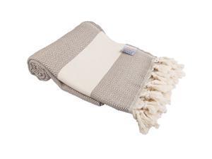 """Clotho Zigzag Pattern Turkish Bamboo Peshtemal Towel 37X70"""""""
