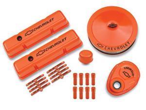 PROFORM SBC Chevy Logo Orange Paint Engine Dress Up Kit P/N 141-780