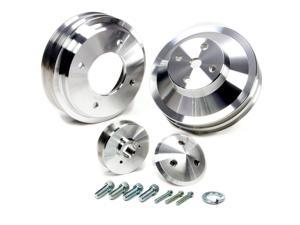 MARCH PERFORMANCE Aluminum Pontiac V8 V-Belt Perf Series Pulley Kit P/N 13030