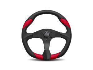 Momo Quark Black Anodize Aluminum 350 mm Diameter Steering Wheel P/N QRK35BK0R