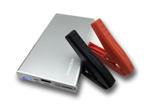 Imazing IM5 Aluminum Slim Portable iPhone Size Power Bank and Car Jump Starter with Clamps