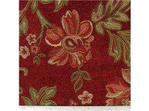 DEC- Red Audrey Rose Home Decor Fabric