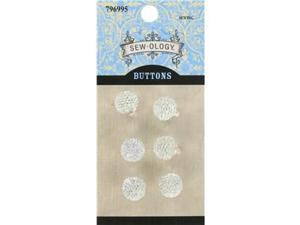 10mm Clear Glitzy Gem Ball Buttons with Shank