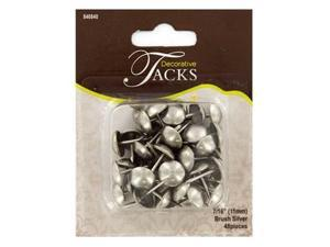11mm Brushed Silver Round Decorative Tacks