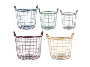 Multi Color Round Wire Basket Set