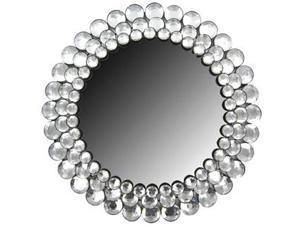 Round Crystal Gemstone Accented Mirror
