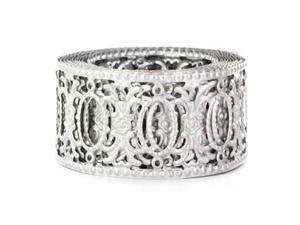 """2"""" Zinc Plated Metal Ribbon with Open Ovals"""
