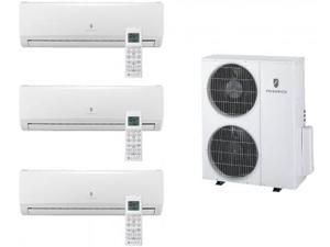 Friedrich  MR36TQY3JM39K Multi-Zone Ductless Split System for 3 Rooms  with 27 000 BTUs  Inverter Technology  4-Way