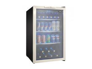 "Danby  DBC039A1BDB 20"" Freestanding Beverage Center with 4.3 cu. ft. Capacity  Tempered Glass Door with Stainless"
