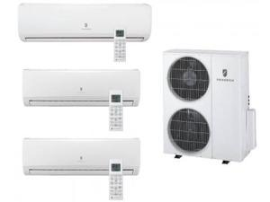 Friedrich  MR36TQY3JM29K118K Multi-Zone Ductless Split System for 3 Rooms  with 34 000 BTUs  Inverter Technology  4-Way