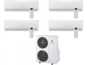 Friedrich  Multi-Zone Ductless Split System for 4 Rooms  with 34 000 BTUs  Inverter Technology  4-Way Auto Swing  Heat