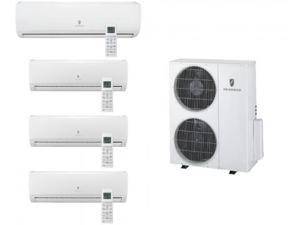 Friedrich  MR36TQY3JM39K118K Multi-Zone Ductless Split System for 4 Rooms  with 34 000 BTUs  Inverter Technology  4-Way