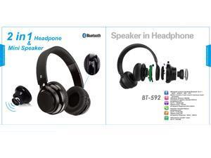 2-in-1 New Beyution brand Bluetooth Headphones + mini Speaker Hi-Fi Stereo bluetooth 2-in-1 headphones