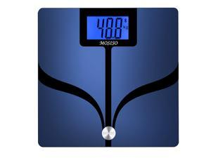 Mosiso - Bluetooth Body Fat Digital Scale (Body Composition Analyzer) with FREE App Measures: Body Weight, Body Fat, Body Water, Muscle Mass, BMI, BMR(KCAL), Bone Mass and Visceral Fat.