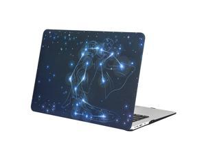 """Mosiso MacBook Air 13 Case, Soft-Touch Plastic See Through Hard Shell Snap On Case Cover for 13-inch MacBook Air 13.3"""" (A1466 & A1370) (Aquarius) with One Year Warranty"""