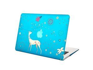 """MacBook Air 13 Case, Mosiso Deer Pattern Soft-Touch Plastic Hard Case Cover for MacBook Air 13.3"""" (A1466 & A1369) (Aqua Blue) with One Year Warranty"""