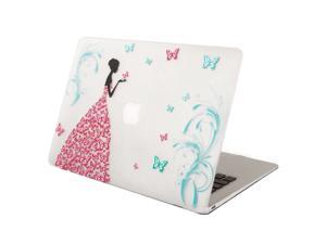 Mosiso New Macbook Case, Smooth Matte Finish Hard Shell Protective Case for MacBook 12 Inch with Retina Display A1534 [2016 / 2015 Release] (Dancing Butterfly Girl)