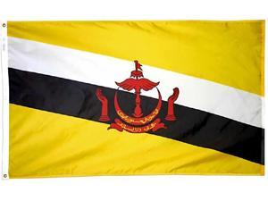 Brunei - 3'X5' Nylon Flag