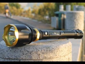 Skyfire SF-018 Strong Light Flashlight - Rechargeable & Longer Xenon - Portable King Long Shots LED (Black)
