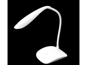 ONEFIRE USB Rechargeable Touch Sensor LED Desk Table Lamp - White