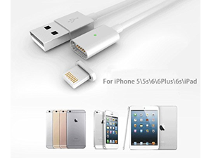 Magnetic Charger Cable Adapter for Iphone 6s, Iphone 6s Plus, Iphone 6, Iphone 6 Plus, Iphone 5, Iphone 5c, Iphone 5s, Ipad Air, Ipad Air 2, Ipad 4, Ipad Mini, Ipad Mini 2, Ipad Mini 3